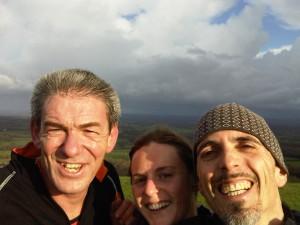 Cliff, Nikki et moi dans un sunny moment