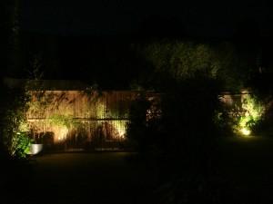 Panel at night